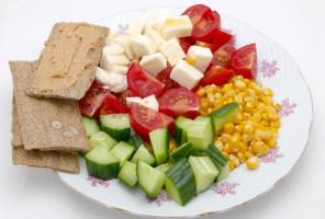 Zelenina s mozzarellou na večeru